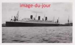 PHOTO ANCIENNE  Paquebot Ile De France Au Havre En Septembre 1934 Boat Bateau - Bateaux