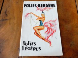 1958 FOLIES-BERGÈRES --->Programmes:Folies Légères,Danse Orientale,Bain De Nuit,Frivolités,etc (Les Jackson Girls, Etc) - Theatre