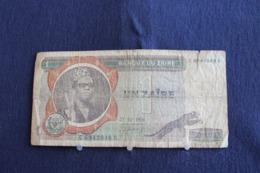 61 / Zaïre - Banque Du Zaïre, 1 -  Un Zaïre  ( 27 - 10 - 1976 ) /  N° C 6942048 S - Zaïre