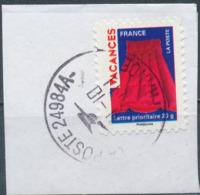 France - Vacances 2009 - Matelas Pneumatique YT A319 Obl. Cachet Rond Sur Fragment - Adhésifs (autocollants)