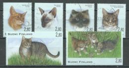 Finlande YT N°1277/1282 Journée Du Timbre Chats Oblitéré ° - Finnland