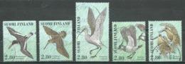 Finlande YT N°1318/1322 Journée Du Timbre Oiseaux échassiers Oblitéré ° - Finlande