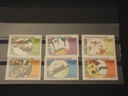 CABO VERDE - 1988 INSETTI  6 VALORI - NUOVI(++) - Kap Verde