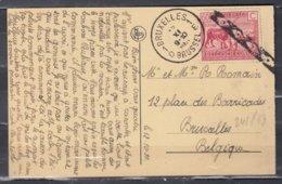 Postkaart Van Belgisch Congo Naar Bruxelles 1D Brussel Met Annulatiestempel - 1923-44: Lettres