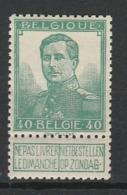 BELGIQUE 1912-13 YT N° 114 * - 1912 Pellens