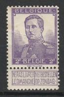 BELGIQUE 1912-13 YT N° 117 * - 1912 Pellens