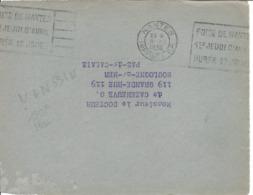 NANTES IMPRIMES PP FLIER 1936 DREYFUSS NAN531N En 1994 COTE 180F PORT PAYE FOIRE DE NANTES DEVANT SEUL - Oblitérations Mécaniques (flammes)