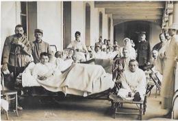CARTE PHOTO  D' Une CHAMBRE De L' HOPITAL  PROVISOIRE MILITAIRE De CHAMBERY - Weltkrieg 1914-18