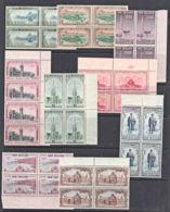 E0127 NEW ZEALAND 1948 & 1950, Otago & Canterbury Centennials, MNH Blocks Of 4 - Nouvelle-Zélande