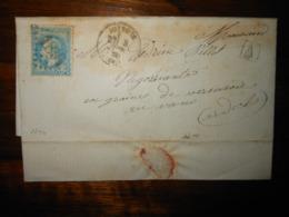 Lettre GC 1894 Joyeuse Ardeche Avec Correspondance - 1849-1876: Période Classique
