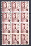 A0940 DOMINICA 1940,  SG 109 ¼ D Definitive,  MNH Block Of 12 - Dominique (...-1978)