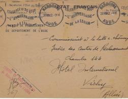 NARBONNE KRAG 1942 DREYFUSS (NAR105) En 1994 COTE 350F FRANCHISE LE 30 AOUT L'ANNIVERSAIRE DE LA LEGION DEVANT SEUL - Oblitérations Mécaniques (flammes)