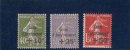 France - 1931 - N°YT 275/77** Caisse D'Amortissement - Cote 675€ - Cassa Di Ammortamento