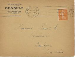 NEUILLY S/SEINE BANLIEUE N.O. 1924 DREYFUSS (NEU603) En 1994 COTE 20F  DEVANT SEUL - Poststempel (Briefe)