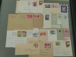 20 Documenten DRUKWERK - IMPRIME Gefrankeerd Met Speciale Uitgiften - Belgium