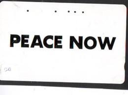 Telecarte PEACE - PEACE On Phonecard (20) PEACE NOW - Télécartes