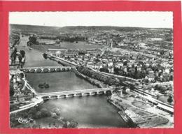 CPSM  Grand Format -  Neuves Maisons  -(M.-et-M.)- Vue Générale Aérienne - La Moselle Et Les Ponts - Neuves Maisons