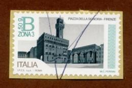 ITALIA 2016 Serie Piazze D'Italia B Zona 3 50g  Piazza Della Signoria Firenze  Su Frammento Annullo A Biro - 2011-...: Used