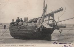 BERCK -PLAGE . Bateau à La Baie De Lotie  (animée, Pêcheur) - Berck