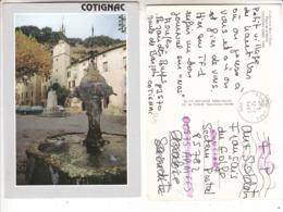 SP- 83 - COTIGNAC - Fontaine - Place De La Mairie - Timbre - Cachet - 1991 - Cotignac