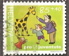 Switzerland: 1 Used Semi Postal Stamp, Children Rest, 2004, Mi#1902x - Suisse