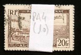 Algérie - Algerien - Algeria Lot 1946-47 Y&T N°PA4  - Michel N°254I (o) - 20f Avion Survolant Alger - Lot De 10 Timbres - Algeria (1924-1962)