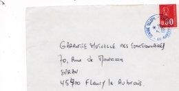 LSC 1973 - Cachet Bleu  CENTRE TELEPH. - 44 NANTES COURBET - Storia Postale