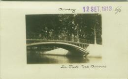 CPA - ANNECY - LE PONT DES AMOURS - RPPC POSTCARD 12 SET. 1913  (BG4654) - Annecy