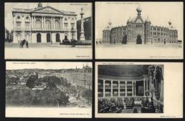 Conjunto De 4 Postais De LISBOA Dos Anos 1900. Edição COSTA Rua Do Ouro. Set Of 4 Ols Postcards PORTUGAL 1900s - Lisboa