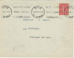 NICE PL GARIBALDI KRAG 1930 DREYFUSS (NIC312) En 1994 Cote 20F NICE SES ALPES PARFUMEES COTE FLEURIE DEVANT SEUL - Oblitérations Mécaniques (flammes)