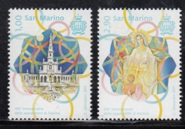 2017 San Marino Lady Of Fatima Catholic Church  Complete  Set Of 2 MNH  @ BELOW FACE VALUE - Ongebruikt
