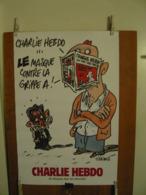 """TIGNOUS - AFFICHE CHARLIE HEBDO - """"Le Masque Contre La Grippe A"""" - Afiches"""