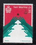 2017 San Marino Christmas Noel Navidad  Complete  Set Of 1 MNH  @ BELOW FACE VALUE - Ongebruikt