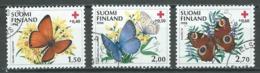 Finlande YT N°1076/1078 Croix-Rouge Papillons Oblitéré ° - Finlande