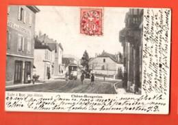 MTY-09 Chêne-Bougeries, Tram, ANIME. Précurseur, Cachet Frontal 1906 Vers Paris. Kuster Et Mayer, Impr. - GE Genève