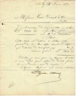 1870 LETTRE COMMERCE NEGOCE EXPEDITION Par Champagne Ayala  Albrecht à Ay Champagne Pour Cossé Duval Nantes VOIR SCANS - Poststempel (Briefe)