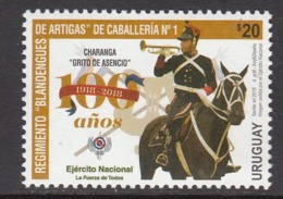 2018 Uruguay Calvary Horses Musical Instruments Trumpet Complete  Set Of 1 MNH - Uruguay