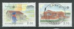 Finlande YT N°1074/1075 Europa 1990 Batiments Postaux Oblitéré ° - 1990