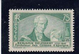 France - 1935 - N°Y.T. 303** Benjamin, Baron Delessert - Nuovi