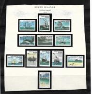O) 1976 COCOS ISLANDS - KEELING, HISTORIC SHIPS - DRAGON - SHOWN . BEAGLE - SYDNEY - EMDEN - AYESHA - ISLANDER - CHESHIR - Cocos (Keeling) Islands