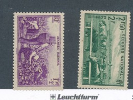 FRANCE - N°YT 468/69 NEUFS** SANS CHARNIERE - COTE YT : 11€ - 1940 - France