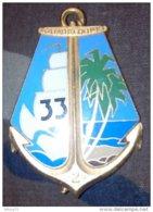 Insigne 2° Compagnie Du 33° Régiment D'Infanterie De Marine - Troupes De Marine - RIMa - Guadeloupe - Ancre - Hueste