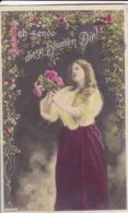 AK Ich Sende Diese Blumen Dir! - Frau Mit Rosen - Poesie - Halle 1908  (44192) - Frauen