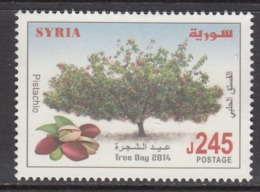 2014 Syria Tree Day Pistachio Nuts Complete Set Of 1 MNH - Siria