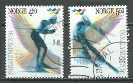 Norvège YT N°1109/1110 Jeux Paralympiques 94 Lillehammer Oblitéré ° - Norvège