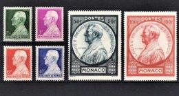 MONACO 1946  - SERIE -  Y.T. Du N° 281 A 286 - 6 TP NEUFS** / 8 - Neufs