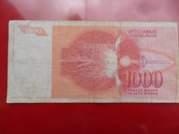 Yugoslavia-Jugoslavija 1000 Dinara 1992, P-114, Interesting And Low Numbers, All For One Price - Jugoslavia