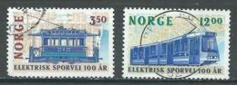 Norvège YT N°1120/1121 Tramways électriques Oblitéré ° - Norvège