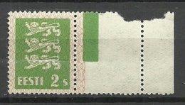 ESTLAND Estonia 1928 Michel 75 + Bogenrand/Leerfeld MNH - Estland