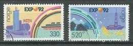 Norvège YT N°1051/1052 Exposition Universelle Expo 92 Séville Oblitéré ° - Norvège